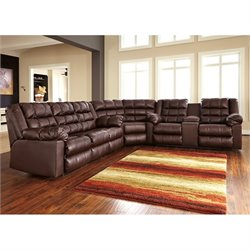 Brolayne 3 Piece Leather Corner Reclining Sectional