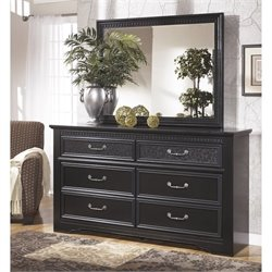 Ashley Cavallino 2 Piece Wood Dresser Set in Black