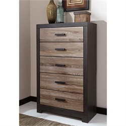 Ashley Harlinton 5 Drawer Wood Chest in Brown