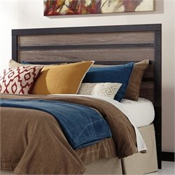 Harlinton Wood Panel Headboard in Brown