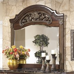 Ashley Gabriela Bedroom Mirror in Brown