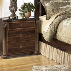 Gabriela Wood Nightstand in Brown
