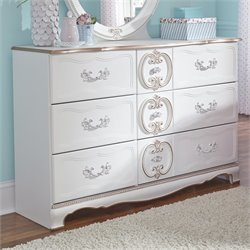 Ashley Korabella 6 Drawer Wood Double Dresser in White