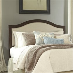 Corraya Upholstered Panel Headboard in Brown