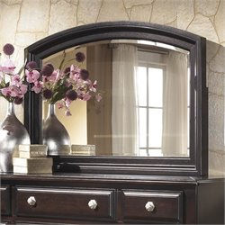 Ashley Ridgley Bedroom Mirror in Dark Brown