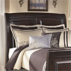 Ridgley Wood Sleigh Panel Headboard in Dark Brown