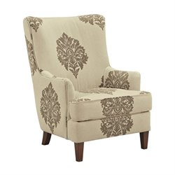 Ashley Berwyn View High Back Fabric Accent Chair in Quartz