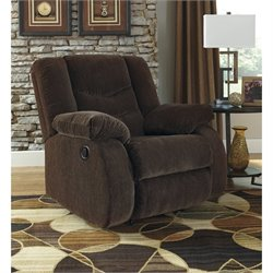 Garek Fabric Rocker Recliner in Cocoa