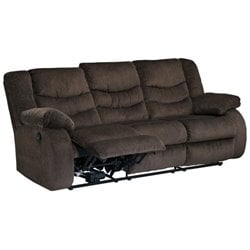Garek Fabric Reclining Sofa in Cocoa