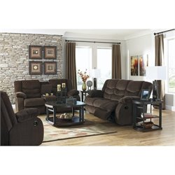 Garek 3 Piece Fabric Reclining Sofa Set in Cocoa