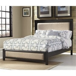 Birstrom Upholstered Panel Bed in Dark Brown