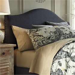 Kasidon Fabric Upholstered Arched Headboard in Gray