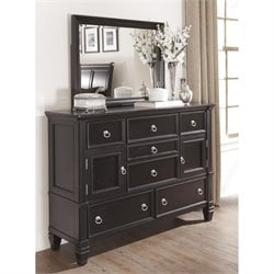 Ashley Greensburg 2 Piece Wood Dresser Set in Black