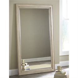 Ashley Demarlos Floor Mirror in Parchment
