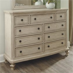 Ashley Demarlos 9 Drawer Wood Dresser in Parchment
