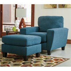Sagen Fabric Chair and Ottoman