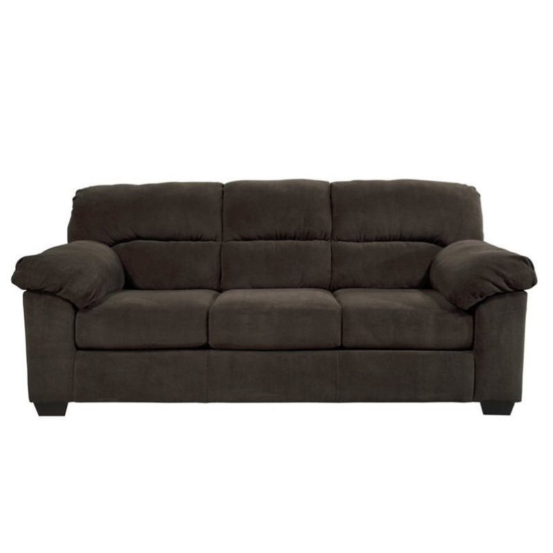 sleeper sofas ashley zorah fabric full size sleeper sofa in chocolate