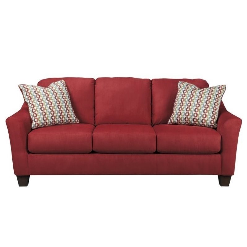 Ashley Hannin Fabric Queen Size Sleeper Sofa In Spice 9580139