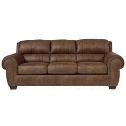 Ashley Burnsville Faux Leather Sofa in Espresso