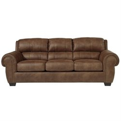 Ashley Burnsville Faux Leather Queen Size Sleeper Sofa in Espresso