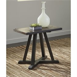 Ashley Zenfield Chair Side End Table in Medium Brown