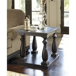 Ashley Mallacar Rectangular End Table in Black