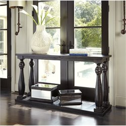 Ashley Mallacar Sofa Table in Black