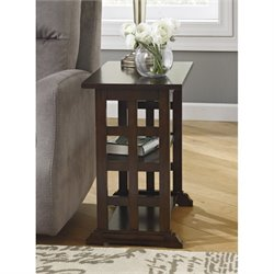 Ashley Braunsen Chair Side Lattice End Table in Brown