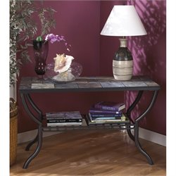 Ashley Antigo Slate Tile Sofa Table in Black