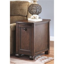 Ashley Brookfield Chair Side End Table in Dark Brown
