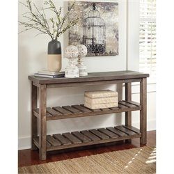 Ashley Vennilux Sofa Table in Grayish Brown