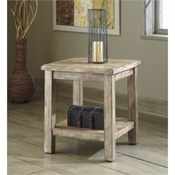 Ashley Vennilux Chair Side End Table in Bisque