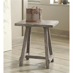 Ashley Vennilux Chair Side End Table in Light Brown