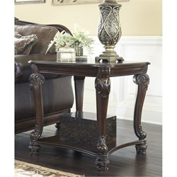 Ashley Norcastle Square End Table in Dark Brown