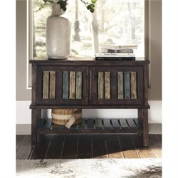 Ashley Mestler Console Table in Rustic Brown