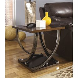 Ashley Rollins Square End Table in Dark Brown