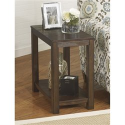 Ashley Grinlyn Chair Side End Table in Rustic Brown