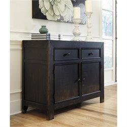 Ashley Gavelston Accent Cabinet Chest in Black