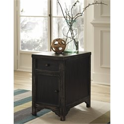 Ashley Gavelston Chair Side End Table in Black