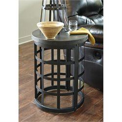 Ashley Marimon Round End Table in Black