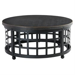 Ashley Marimon Round Coffee Table in Black