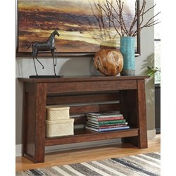 Ashley Harpan Console Table in Reddish Brown