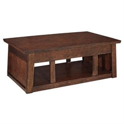 Ashley Harpan Lift Top Coffee Table in Reddish Brown