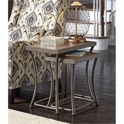 Ashley Nartina 2 Piece Nesting Tables in Light Brown