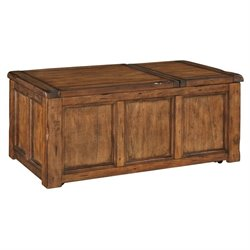 Ashley Tamonie Rectangular Lift Top Coffee Table in Medium Brown