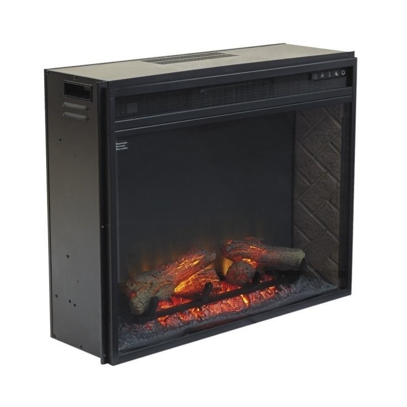 Ashley Large Electric Fireplace Insert Infrared In Black W100 21