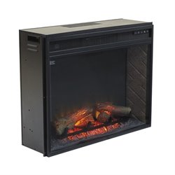 Ashley Large Electric Fireplace Insert Infrared in Black