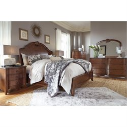 Balinder 5 Piece Sleigh Bedroom Set