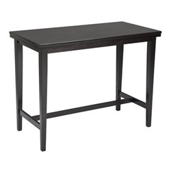 Ashley Kimonte Rectangular Counter Height Dining Table in Dark Brown