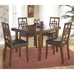 Ashley Cimeran 5 Piece Rectangular Dining Set in Medium Brown